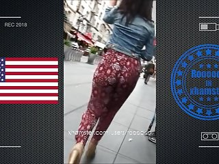 Ass usa Very hot jiggle booty walking in street usa