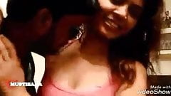 Bhanu trying not to kiss in short film