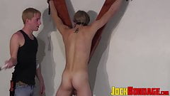 Bound and mouthfolded twink dominated by young master