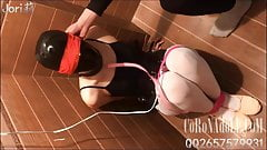 Swimsuit gauze mask bondage Breath Play gag