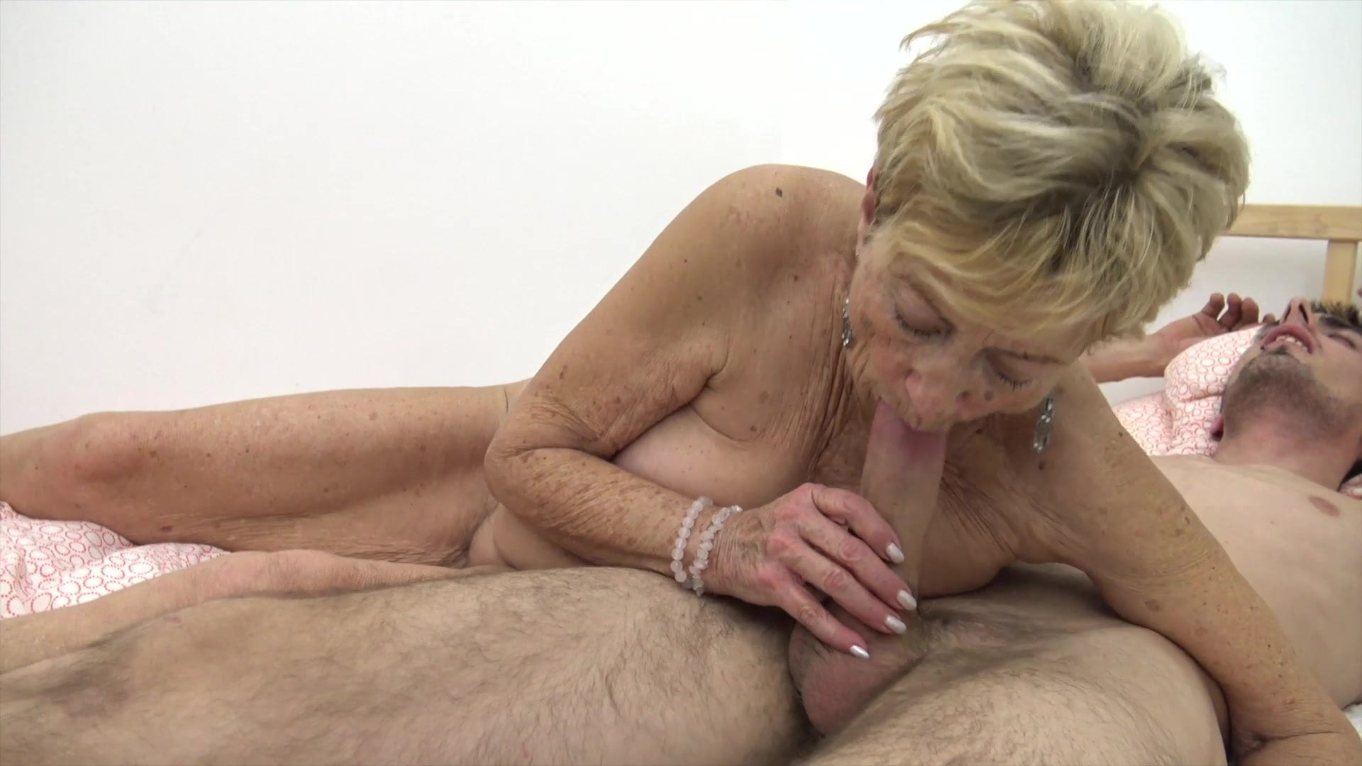 Young guys fuck grannies, cute lady assholes