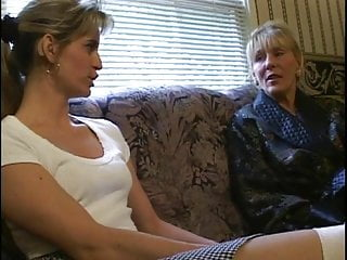 Large mature gay Horny older lady gets her large tits sucked by younger girl
