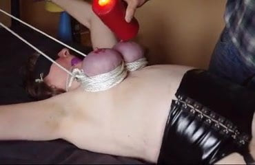 Tied gagged granny get tied tits waxed