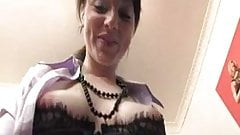 Irish girl masturbates in office