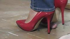 Red Heels footjob