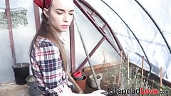 Beautiful Tali Dova fucked and fed with stepdads cum