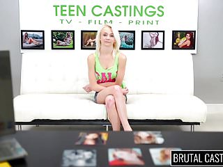 Pale skinny video amateur - Pale skinny teen girl squirts on brutal casting