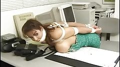 Alexis Taylor bound and gagged in office