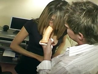 Vegtable in ass Wife moans loudly while fucked in ass