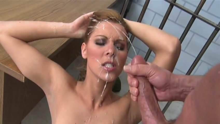 Blonde Teen Handjob Facial