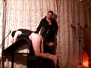 Punished by his mistress pussy - Disciplined by his mistress
