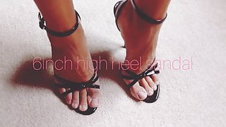 6inch high heels in sandal