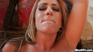 Busty POV blonde analized in horny sex romp