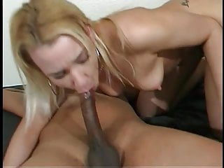 Huge twink cock anal - Cute young blonde loves a load on her ass after huge black cock anal fucks her
