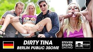 THREESOME: BLONDIE pleasures 2 BIG DICKS! StevenShame.Dating