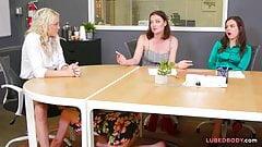 Girl on girl wet action with Kenzie Taylor & Kristen Scott