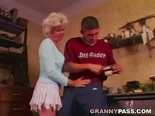 Only hairy pussy - Granny only wants anal