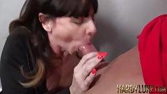Sara seduced into sloppy dick sucking and balls deep riding