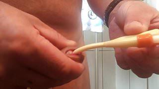 Katheter einfuehren und wichsen