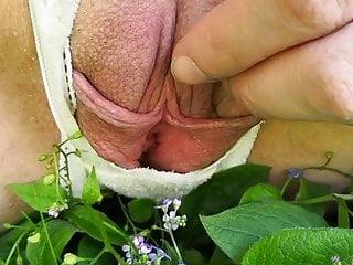 Big labia tgp My meaty pussy pissing outdoors with big labia spread