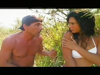 Sex positive island Brunette on island
