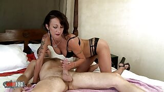 French brunette fucked through all the holes