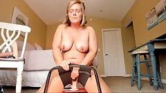 Chubby amateur wife riding a dildo
