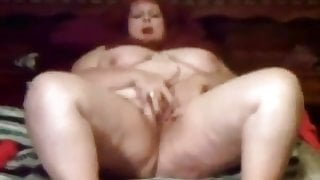 BBW granny playing with her fat pussy – vintage