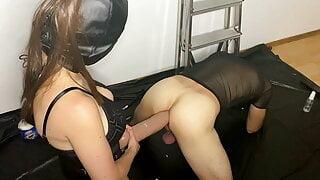 Pegging with Mr Hankey XXXCALIBUR with anal orgasm