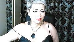 Mature slutty bitch AimeeParadise in a private show ...