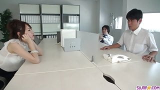 Yui Uehara in scenes of threesome hard - More at Slurpjp.com