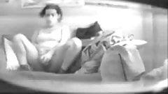 Mummy caught masturbating in living room