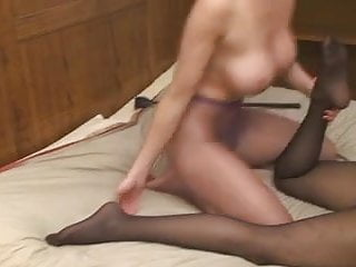 Smelly ass Lesbian worshipping smelly pantyhosed feet