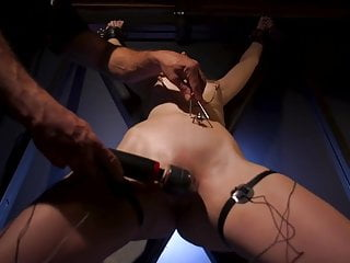 Bondage and whips Blonde slut overtaken in rope bondage and hardcore fucking