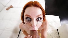 Redhead Lacy Lennon Can't Wait To Be Throat Fucked