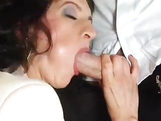Tips red lingerie - Mom in red lingerie enjoys a young cock in her ass