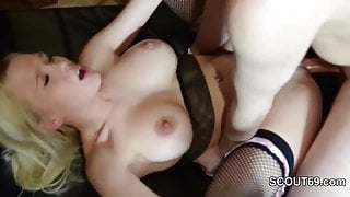German Hot Teen in Privat Gangbang with 8 old Man