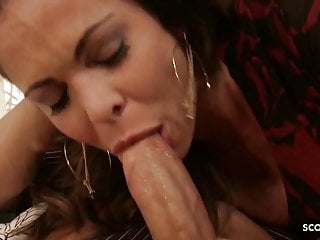 Pornstar hunter bryce - Nymphomanic milf seduce young guy to fuck her rough