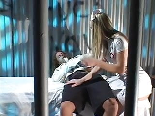Assaultive inmate escort Blonde beauty sucks dick and gets pounded by an inmate in his cell