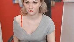 Blonde MILF Diana Fury stripping on webcam.