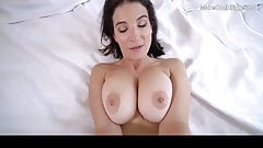 Horny MILF with big natural tits caught fingering herself
