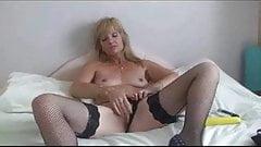 New Stocking Milf Jill With Dildo Fucking
