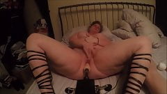Chubby mature fucked hard by her sex machine to a hot orgasm