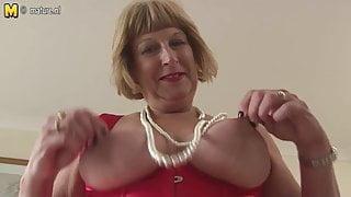 Horny British chubby granny getting very dirty