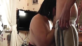 Xmas BJ & Titty Wank