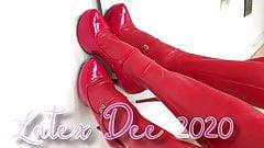 Latex Dee in Red Latex & Diaper