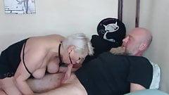 Beautiful mature bitch with big tits sucks dick in private!