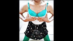 My pic green bra & stocking Crossdresser
