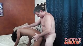 Daddy loves fucking a little asian twink