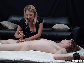 Is bigger cock better - Milf handjob proves sons cock is bigger than dads